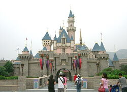 Hong Kong Disneyland's iconic Sleeping Beauty Castle