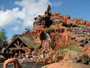 The coolest shot of Splash Mountain ever