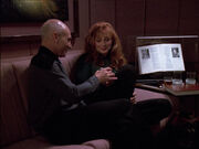 Picard and Crusher discuss déjà vu