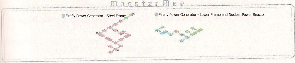 Firefly Power Generator Monster Map