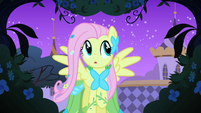 Fluttershy exploring the gardens S1E26