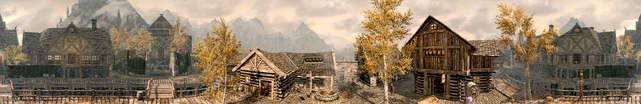 TESV City Riften Panorama