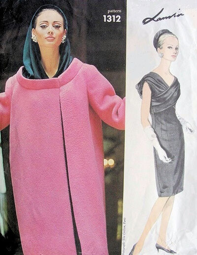 Vogue 1312 by Lanvin 1960s evening dress and coat pattern