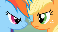 Applejack y rainbow