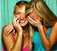 Laughing - 2girls