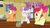 Scootaloo&#39;s plucking reaction S2E17