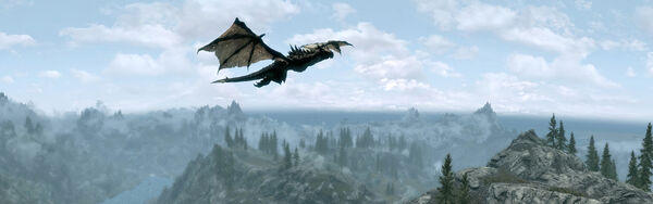 Skyrim Panorama Dragon
