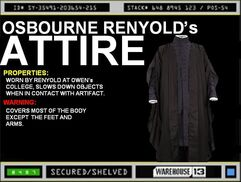 Osbourne Renyold&#39;s Attire