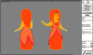 Modelsheet flameprincess - wetblushing