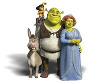 Shrek and family
