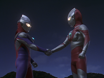 UltramanTiga&amp;UltramanHandShake!