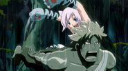 Lisanna attacked by Iron Elfman