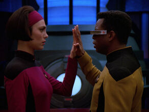 Ro and Geordi connect