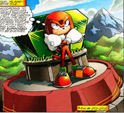 Knuckles Guarding the Master Emerald