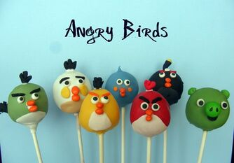 Angry birds pops wallpaper