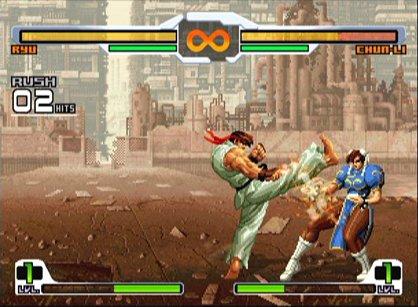 Este juego tiene mas diferencias a Capcom Vs SNK y Capcom Vs SNK 2 con