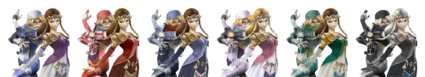 Distintas Sheik Zelda SSBB