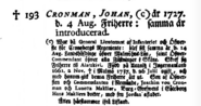 Cronman-Johan biography