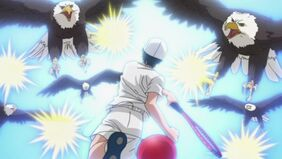 Echizen Ryoma hitting 5 at a time