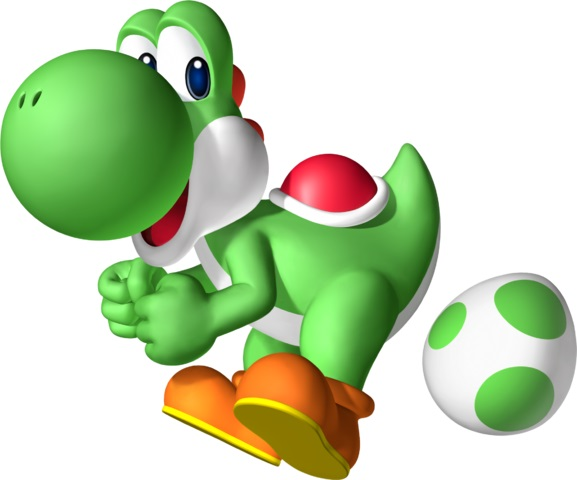 Green Yoshi For Toddlers Coloring Page Pictures to pin on Pinterest