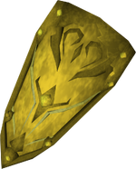 Gilded kiteshield detail