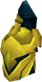 Gilded full helm detail