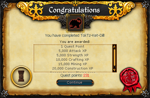 TokTz-Ket-Dill reward scroll