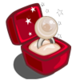 Winter Wonderland Platinum Pearl Unwither Ring-icon