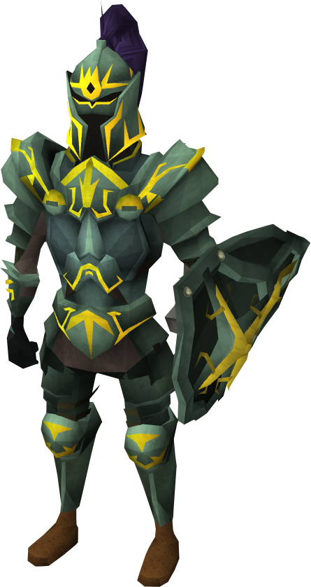 Adamant gold trimmed armour set lg the runescape wiki