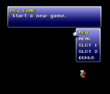 FFVI PSX Main Menu