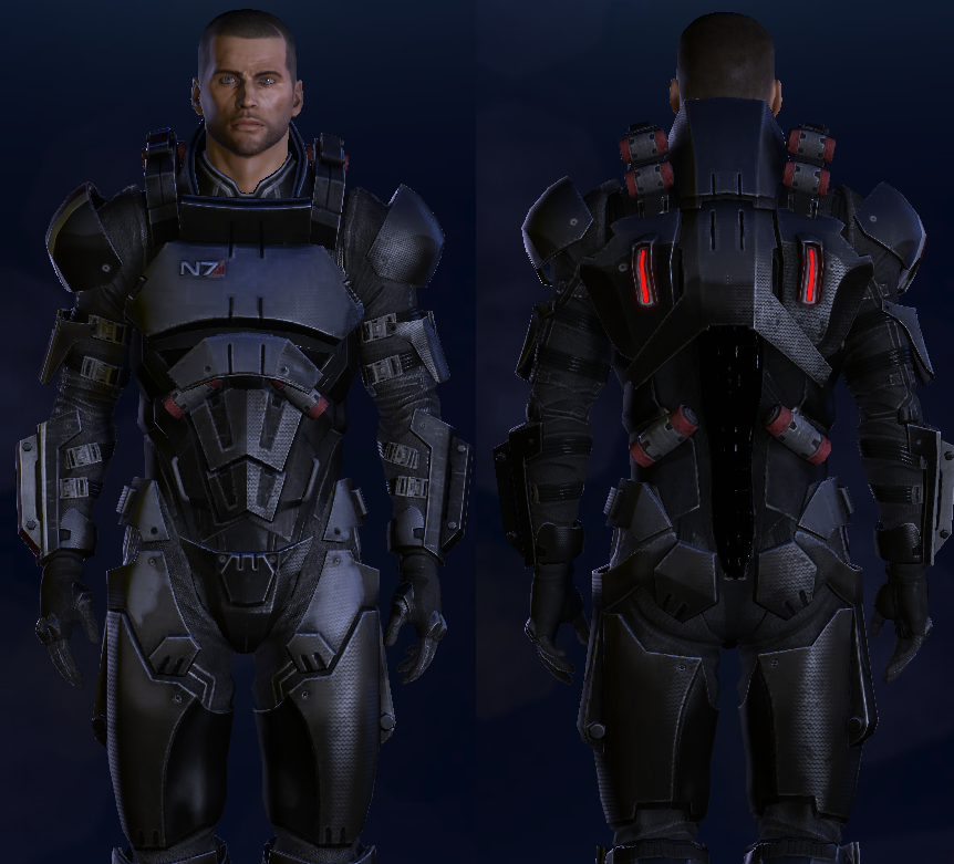 Ariake technologies armor sets for Mass effect 3 n7 armor template