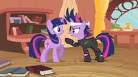 Future Twilight pointing at Twilight S2E20