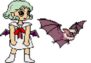 Darkstalkers Morrigan transforms