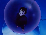 Gohan in babidi&#39;s crystal ball