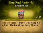 Blue red party hat
