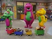 Barney who&#39;s who on the choo choo