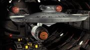 USS Defiant in Tholian drydock, 2155