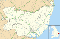 Suffolk UK location map