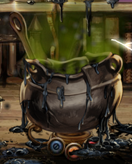 Melted cauldron