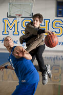 Peter and Flash play basketball