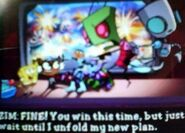 Nicktoons Android invasion Zim and Gir with Sponge bob el tiger and dany phantom