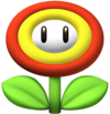 Fire Flower Artwork - New Super Mario Bros