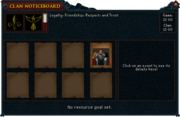 Clan noticeboard-main interface