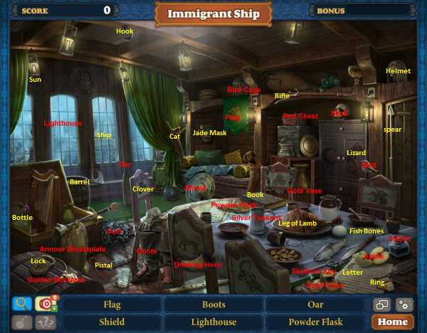 Scene Immigrant Ship-Map
