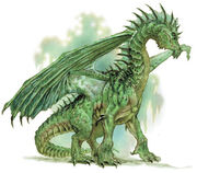Green european dragon