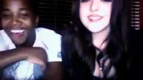 Elizabeth Gillies & Leon Thomas III Ustream Part 1