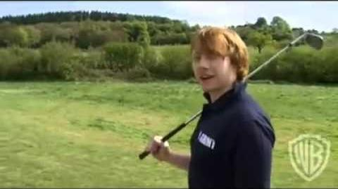 Rupert Grint interview on The Green for Deathly Hallows BlueRay DVD