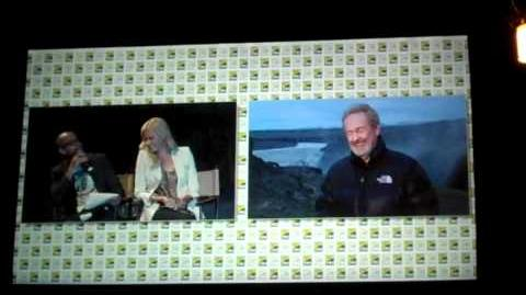 "Ridley Scott talks about ""Prometheus"" @ Comic Con from Iceland"