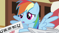 Rainbow Dash with newspaper S2E23