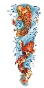 Tattoo sleeve color koi copy
